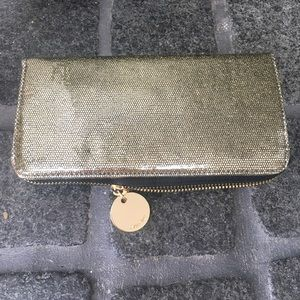 Gold sparkly wallet